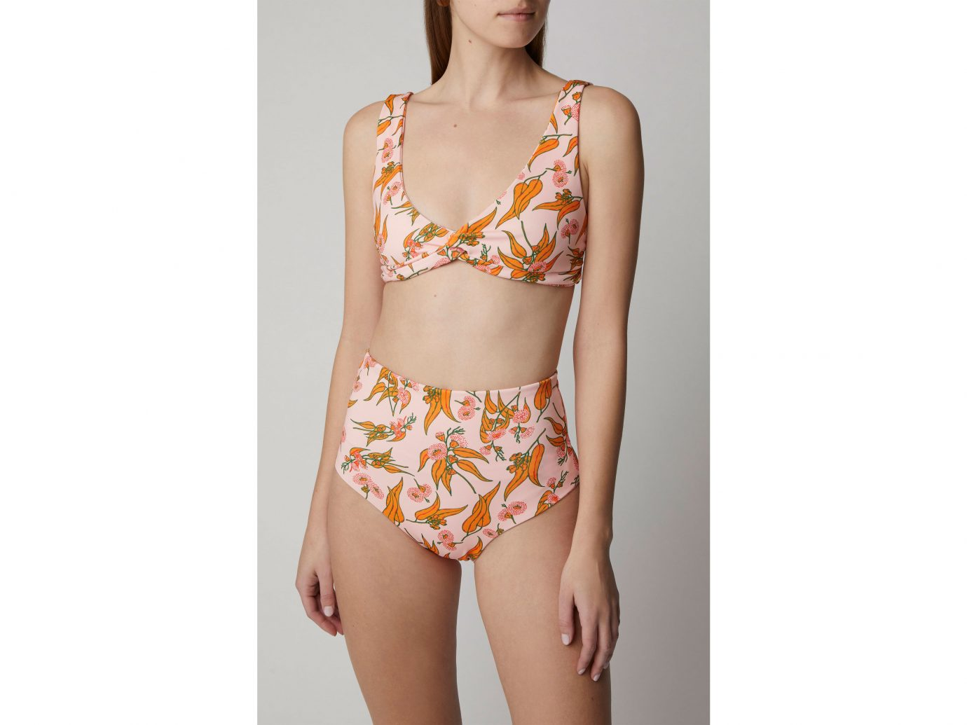 Camp Cove Lena Twist Bikini Top and Katie High-Waisted Bikini Briefs