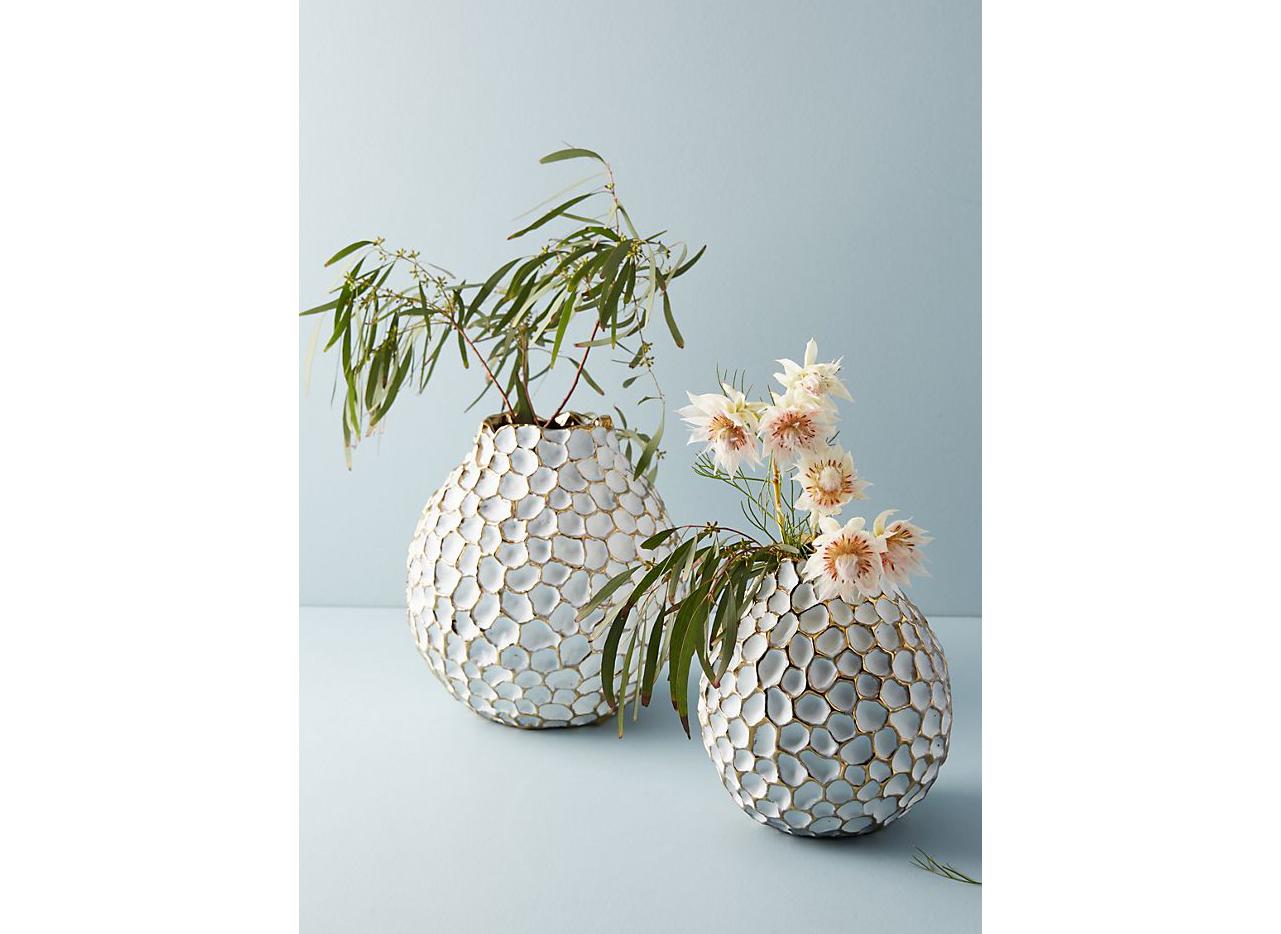 Anthropologie Honeycomb Vases