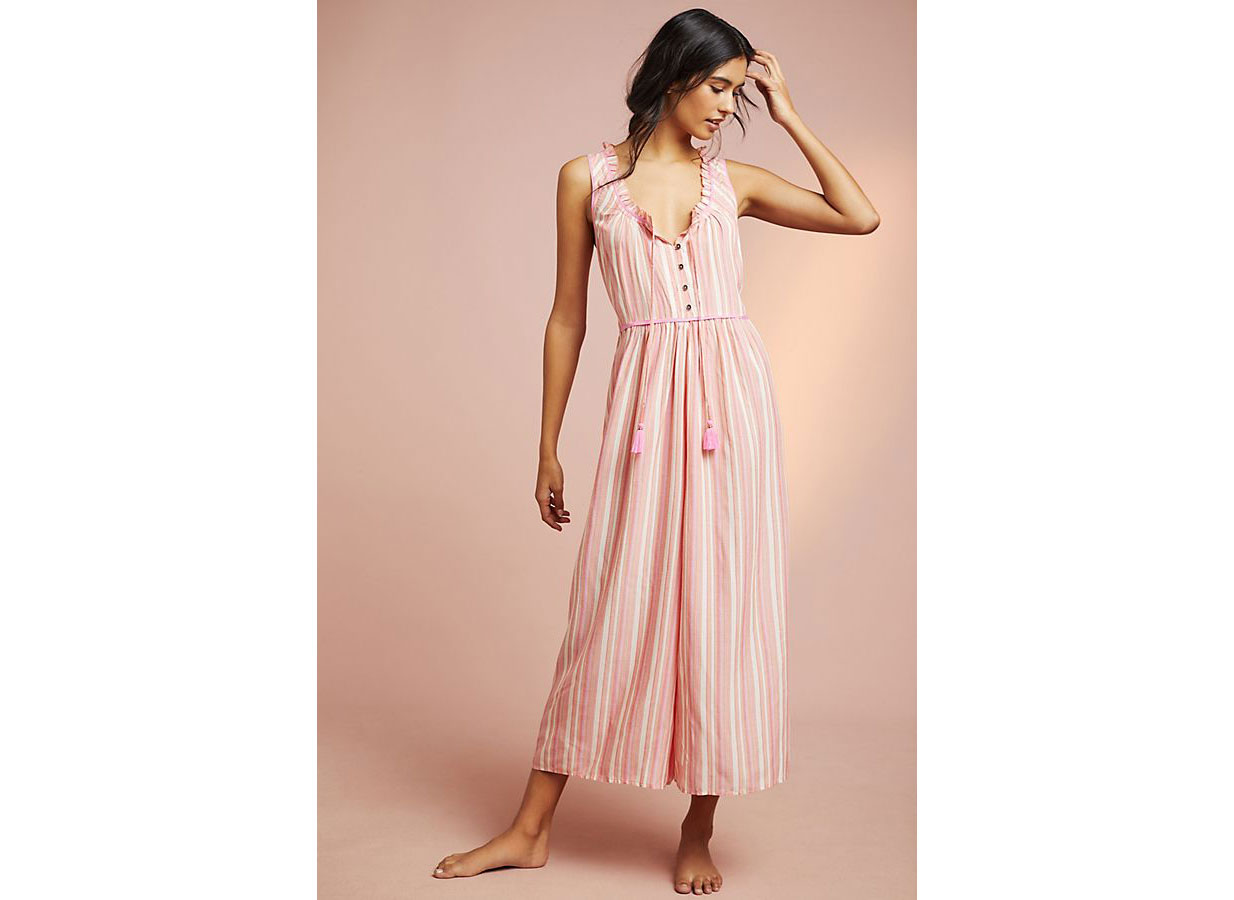 Anthropologie Visayas Striped Jumpsuit