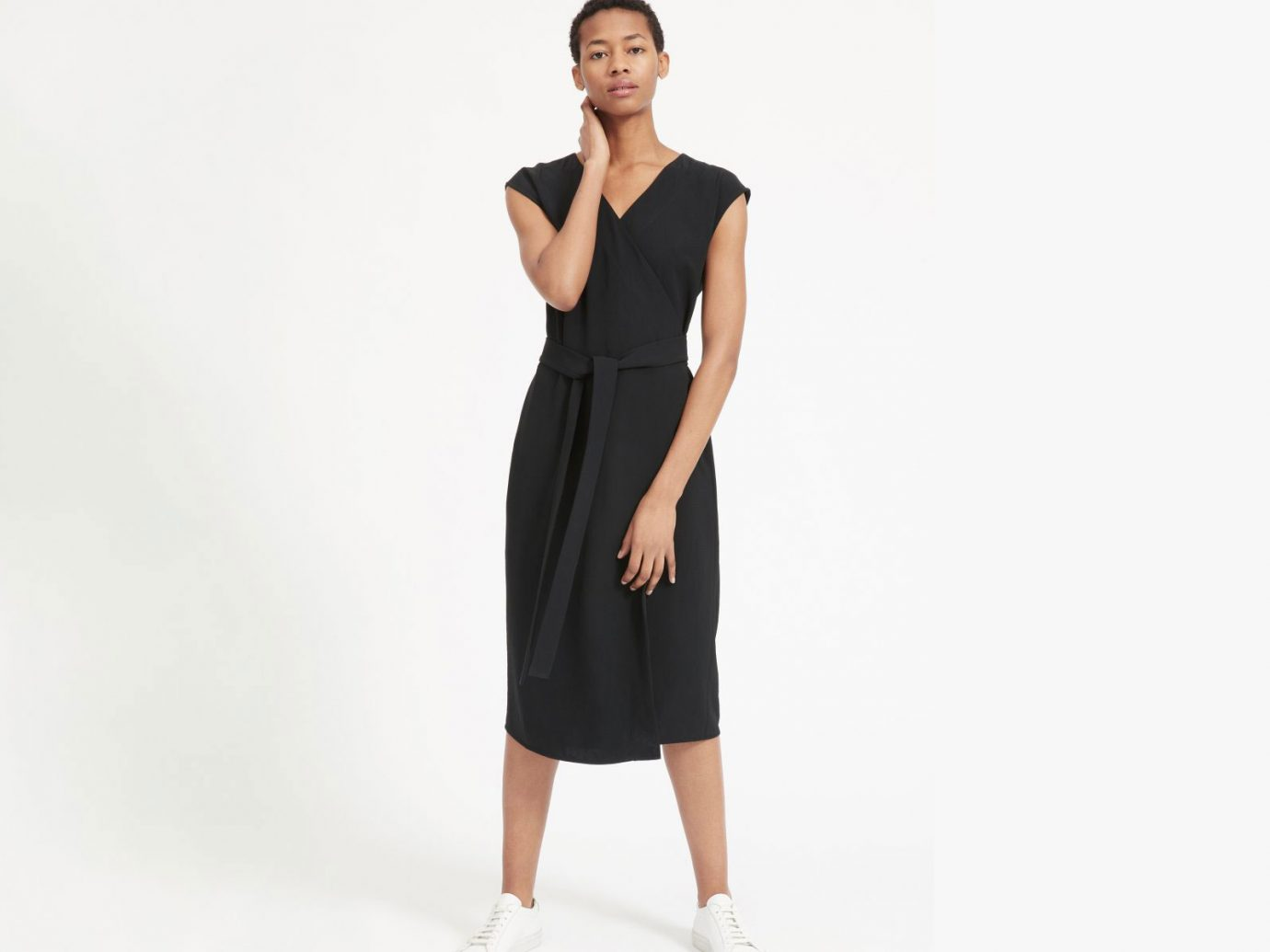 Everlane The Japanese GoWeave Short-Sleeve Wrap Dress