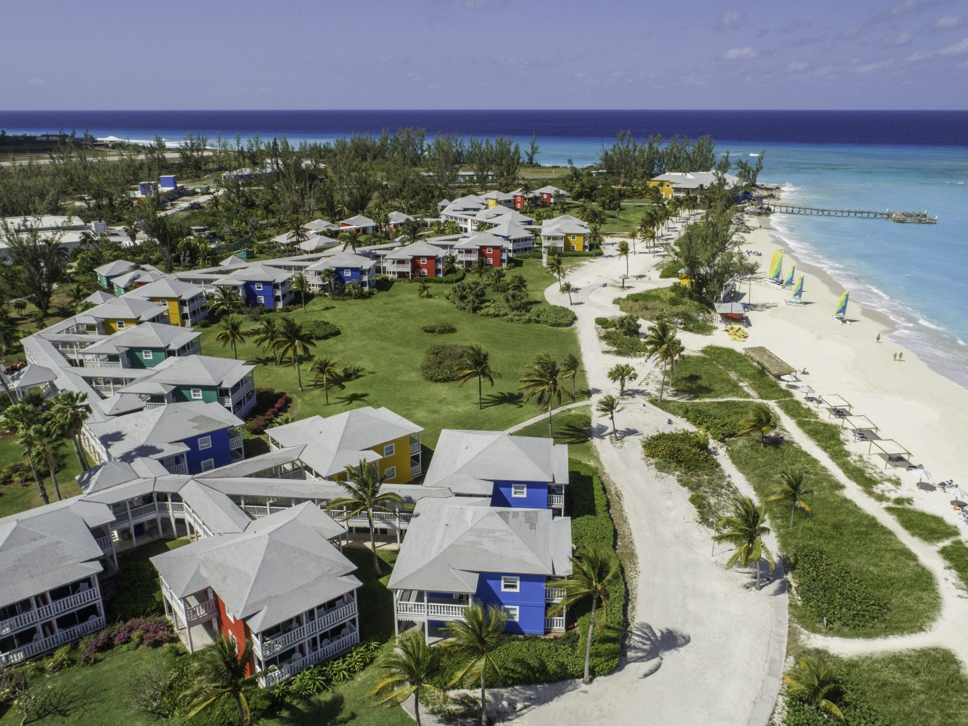 Aerial view of Club Med Columbus Isle