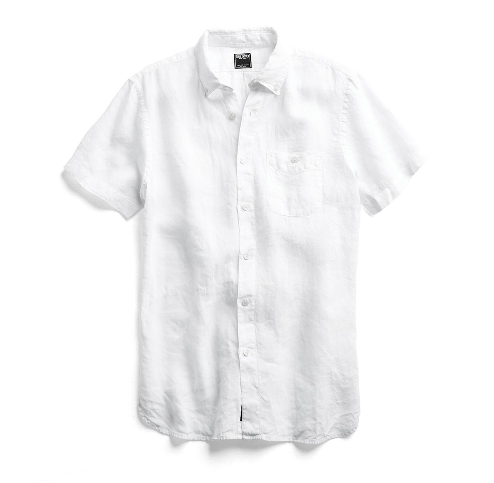 Tom Snyder white shirt