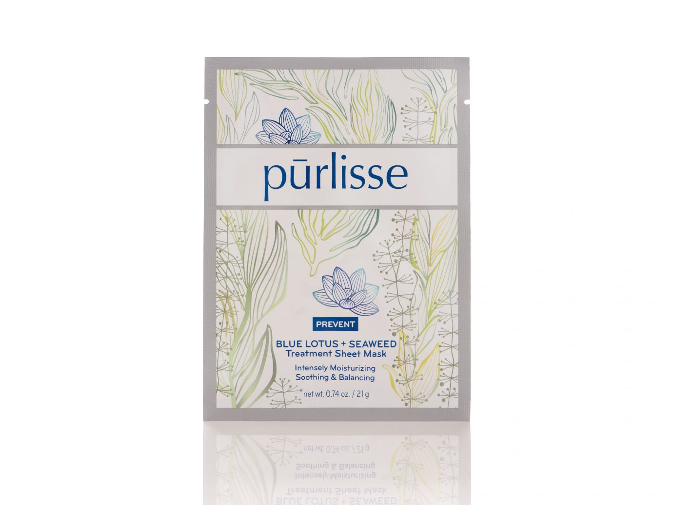 Purlisse Blue Lotus + Seaweed Sheet Mask