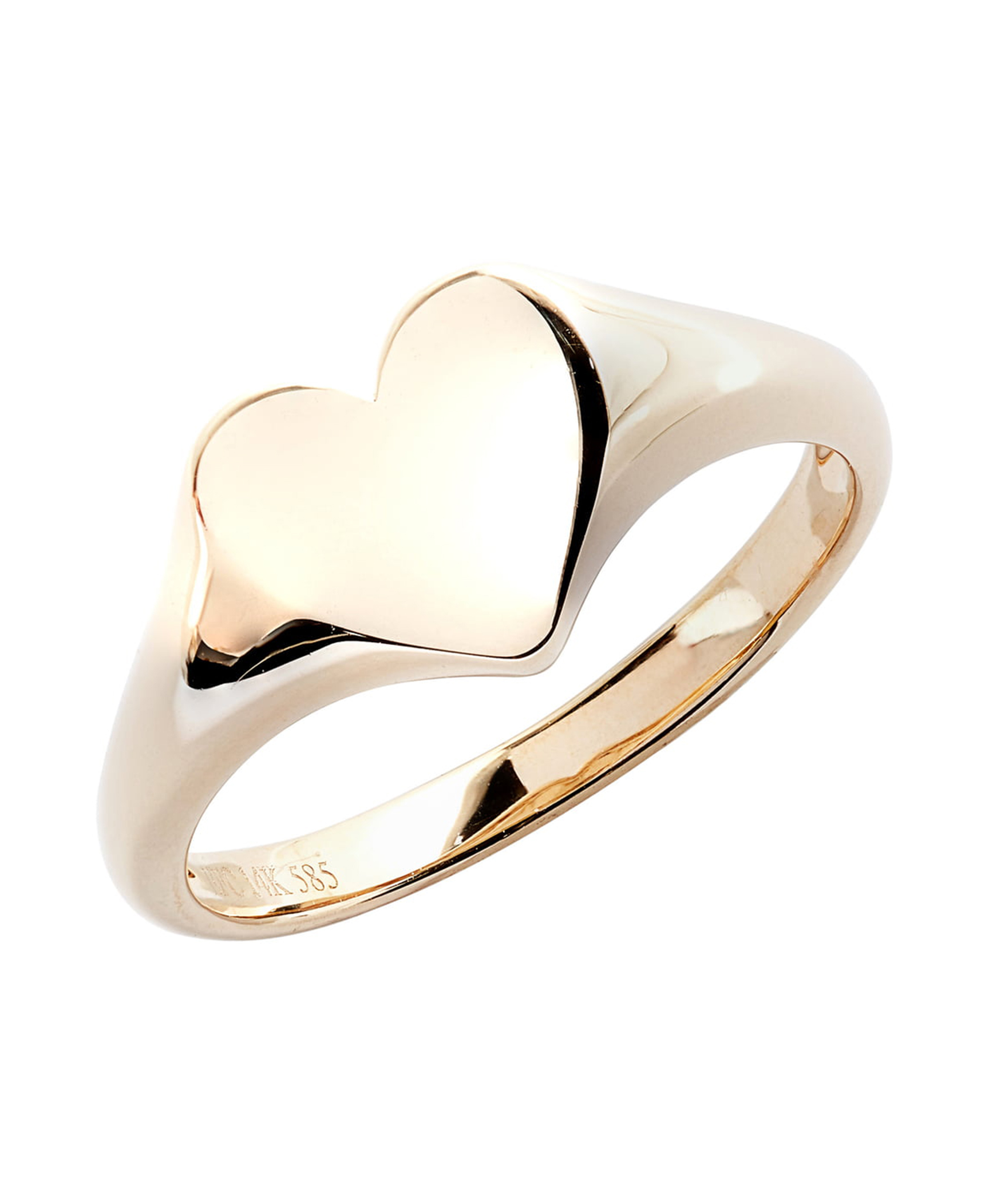 Gold Heart Pinky Ring