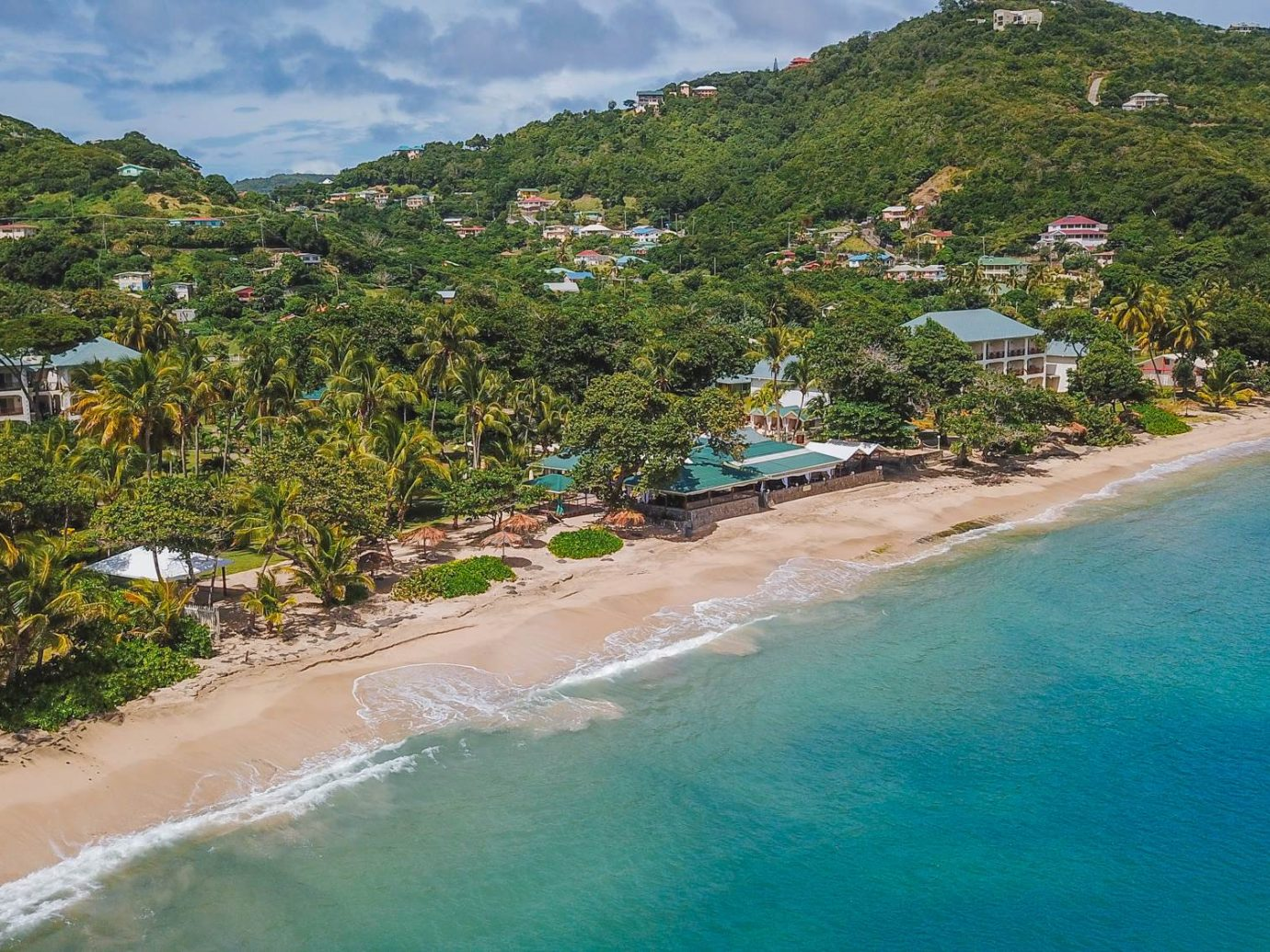 Aerial view of Bequia Beach Hotel