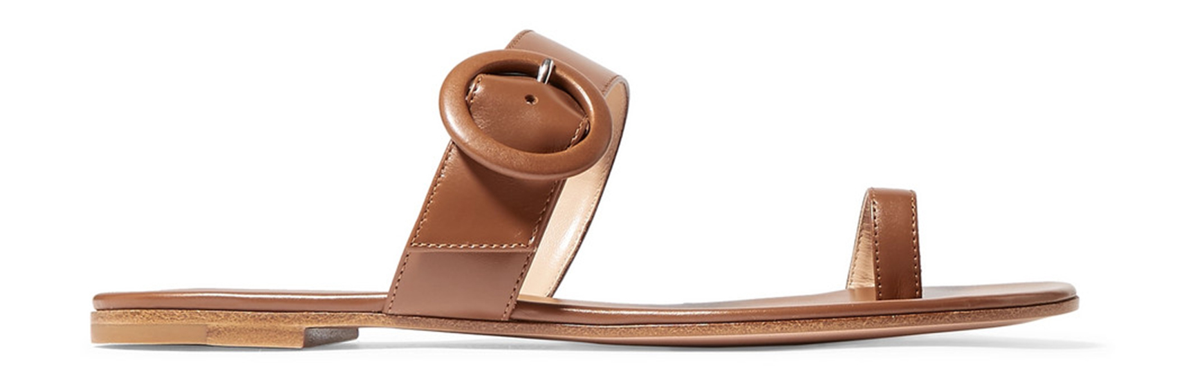 Gianvito Rossi Buckled Leather Sandal