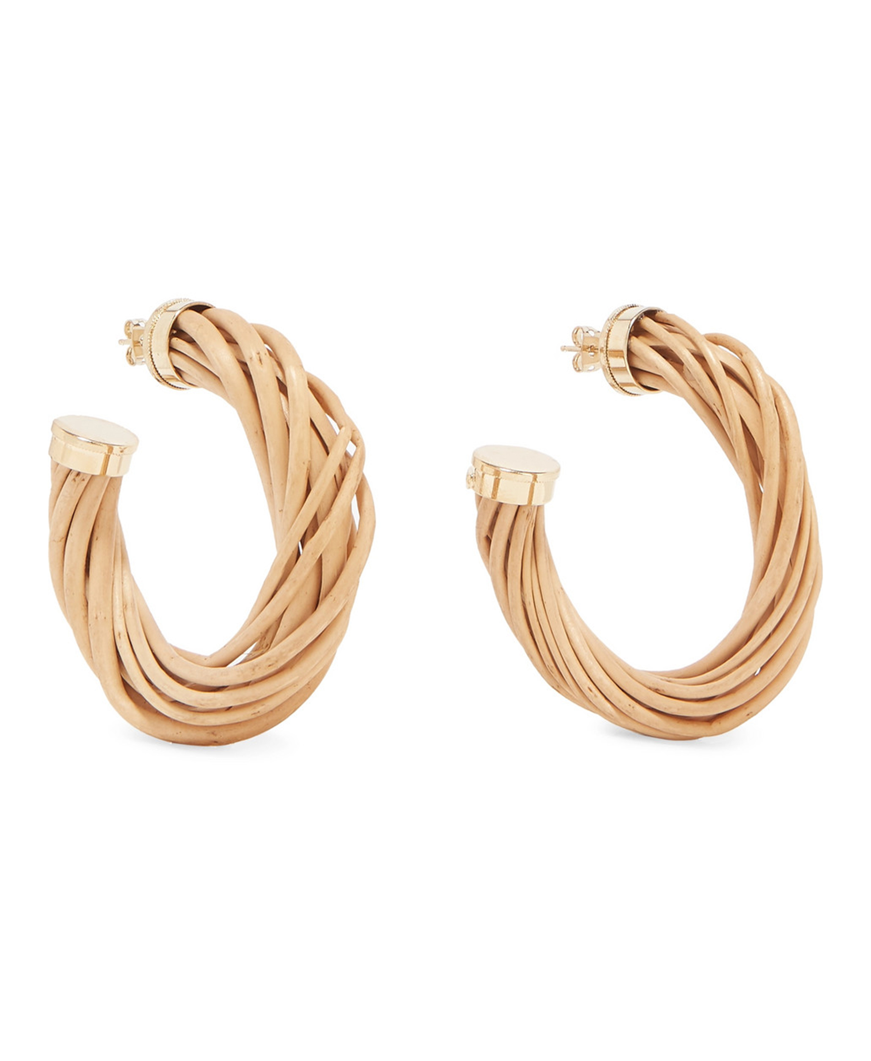 Wicker Hoop Earrings