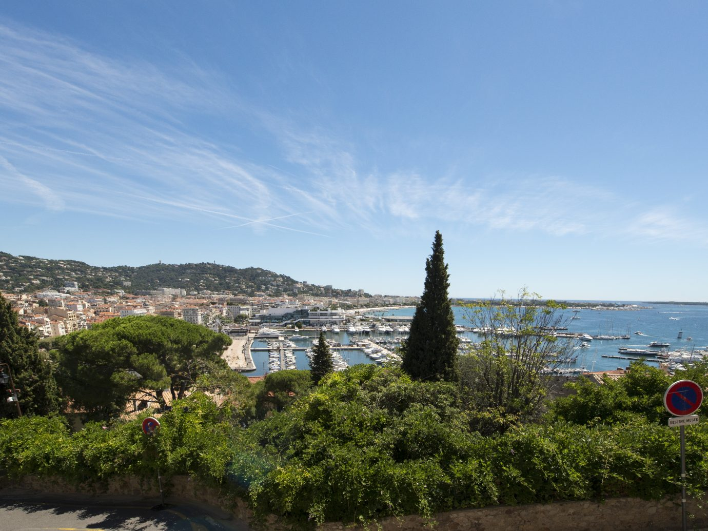 Overview of Cannes, France seen from the Castrum Museum