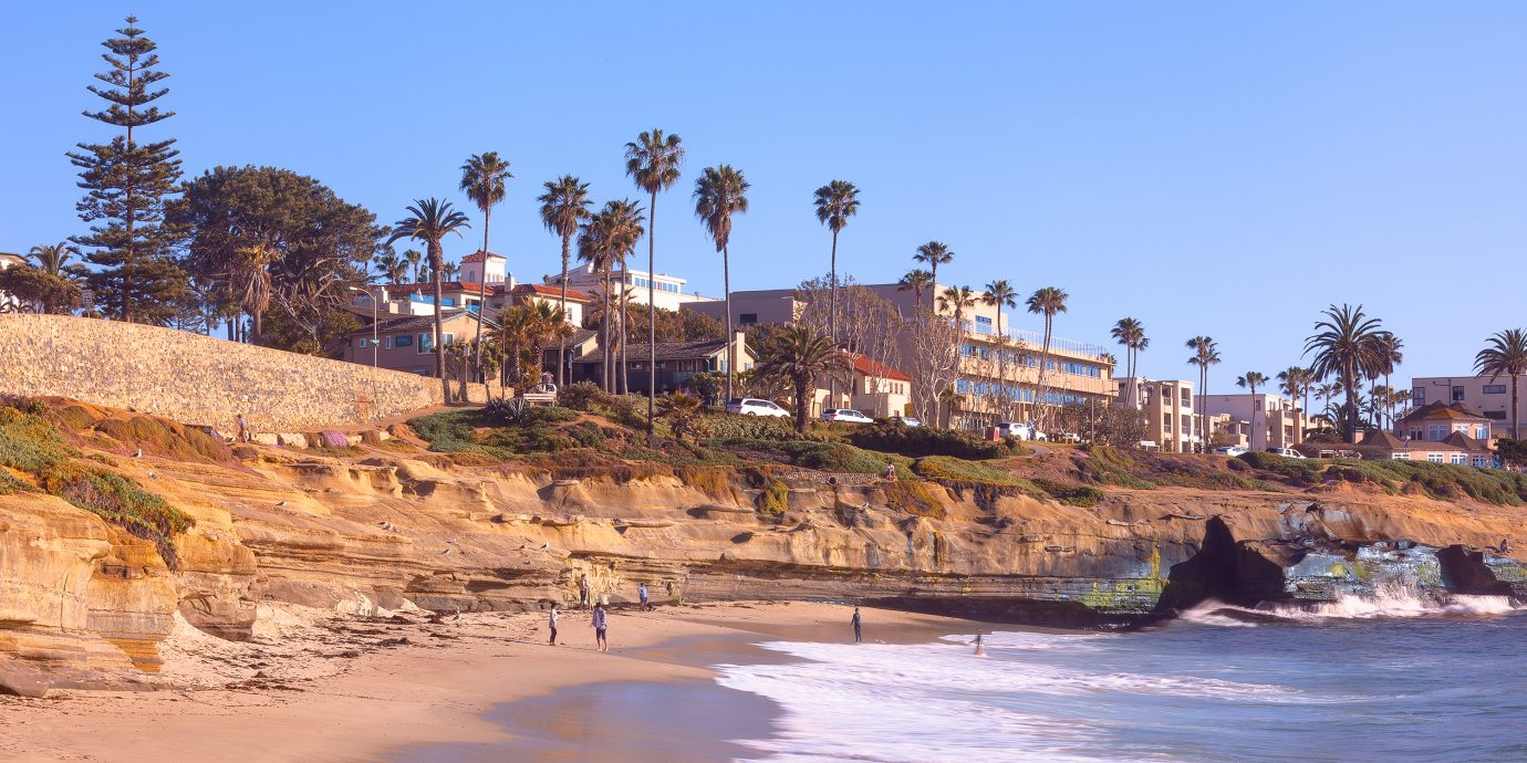 Sunset Cliffs Shoreline in Sunny San Diego, California USA