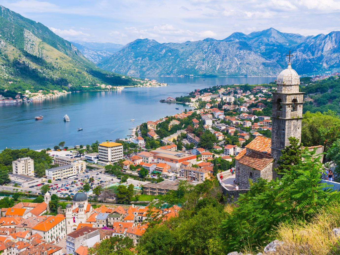view of The Kotor bay is one of the in Montenegro