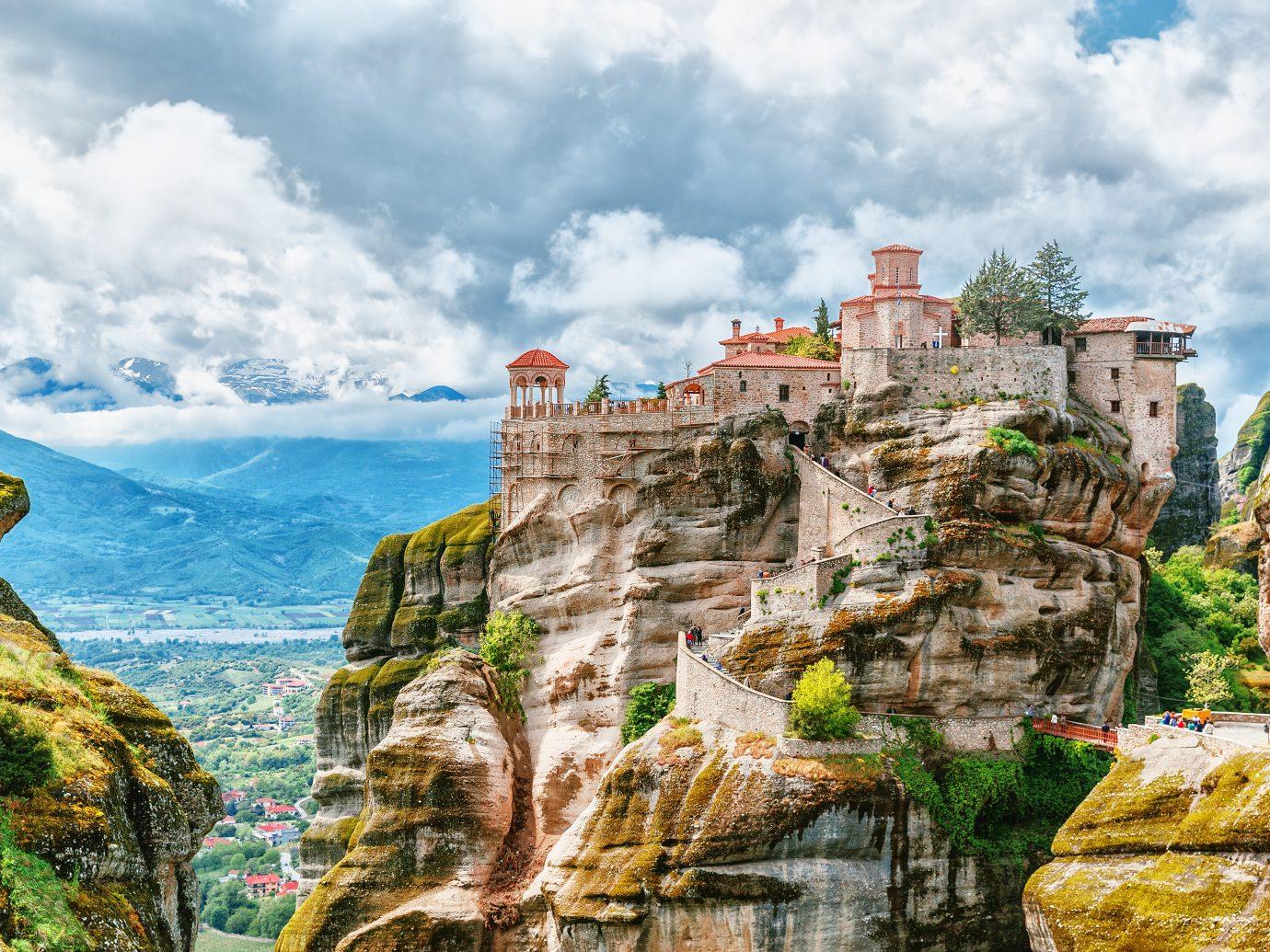 Meteora monastery, Greece. UNESCO heritage list.