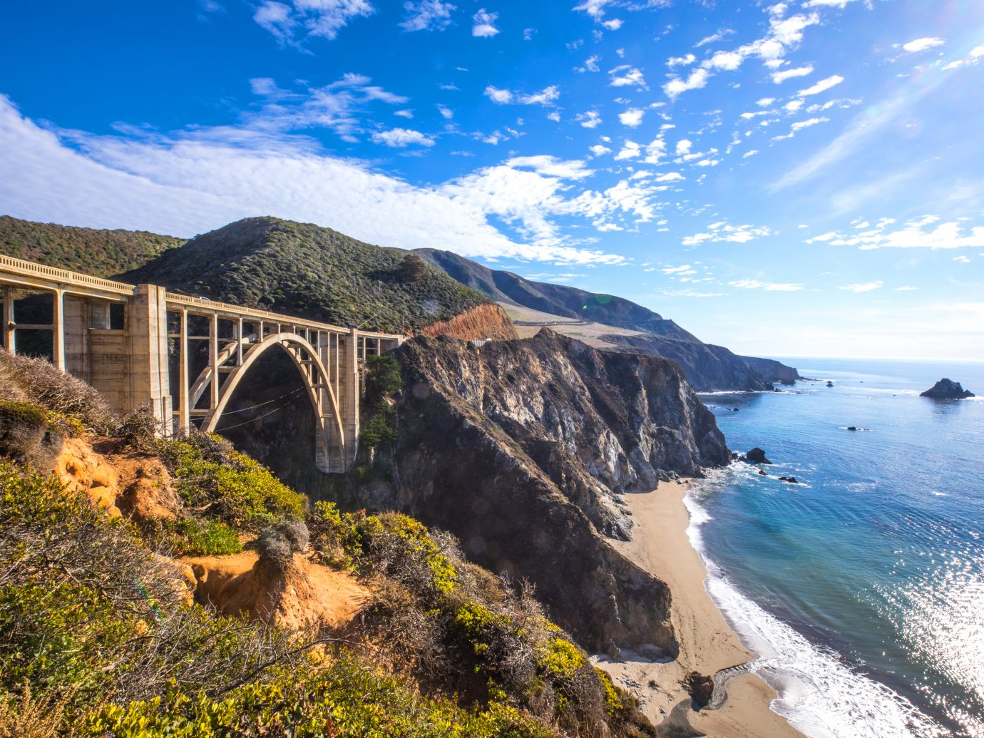 Bixby Bridge and Pacific Coast Highway 1