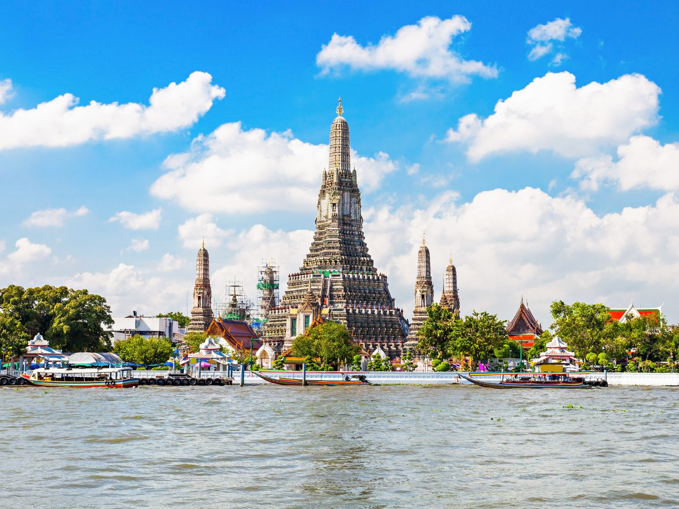 Wat Arun Buddhist temple in Bangkok, Thailand
