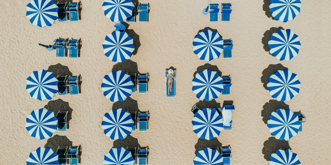 Best safe sunscreens, Aerial view of the beach in Rimini, Spain