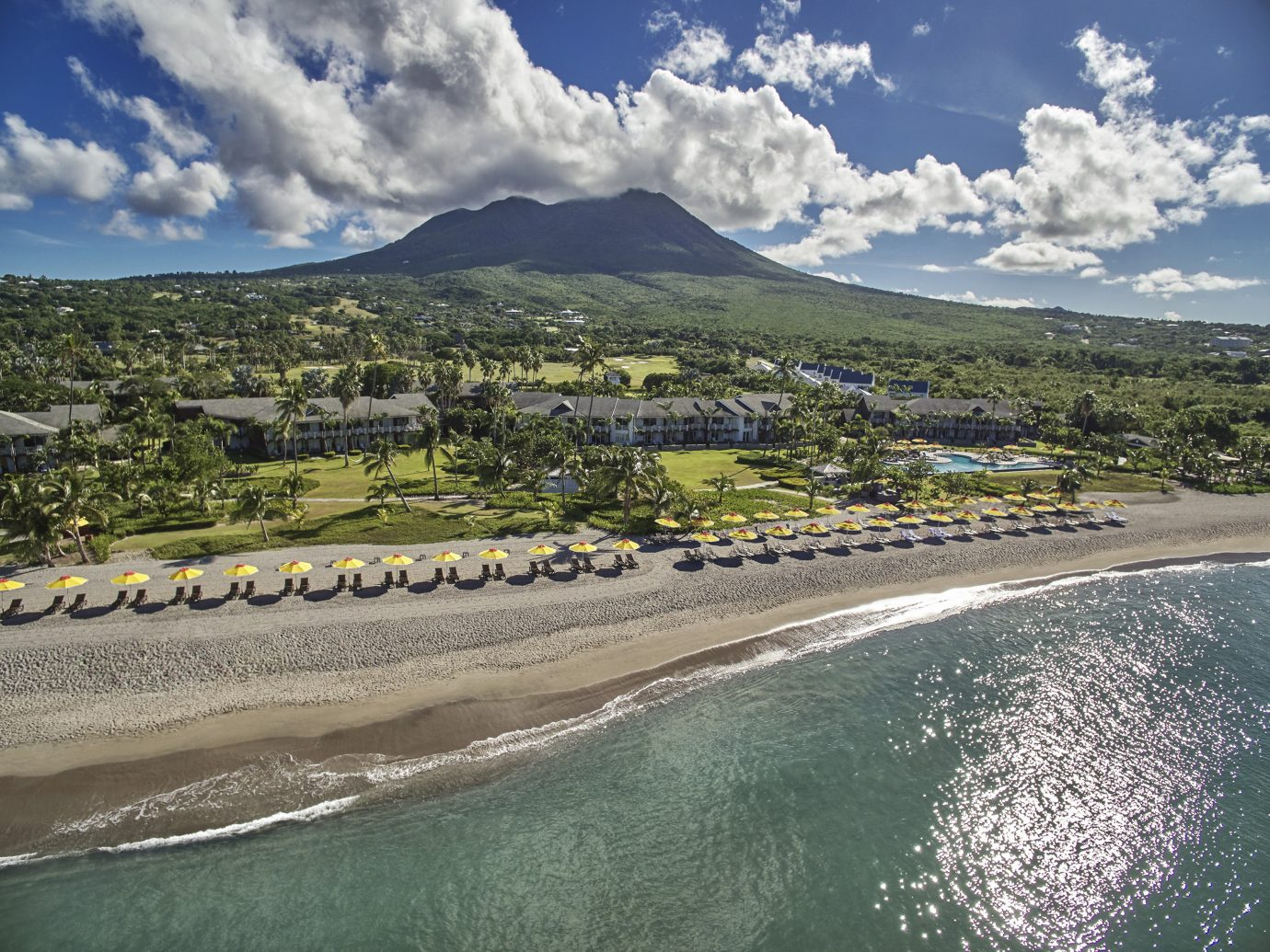 Aerial view of Four Seasons Resort Nevis