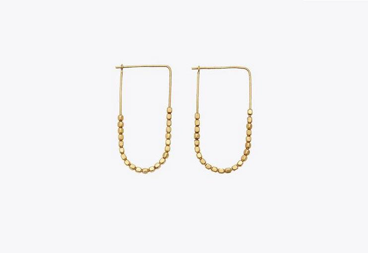 Nisolo Tiny Brass Bead Earrings