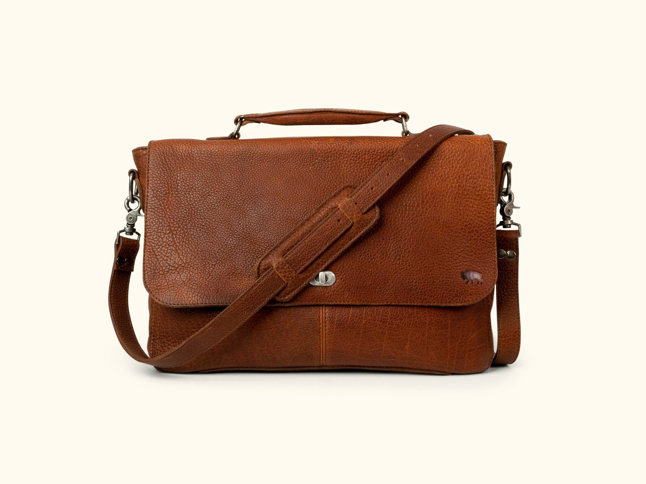 Ryder Reserve Bison Leather Messenger Brown