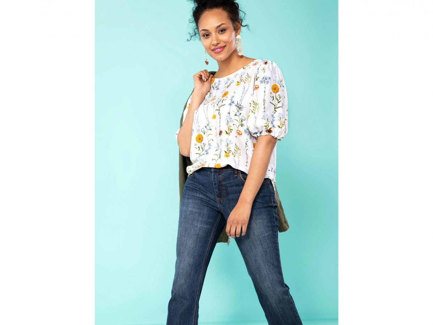 Remade Floral Short Sleeve Top
