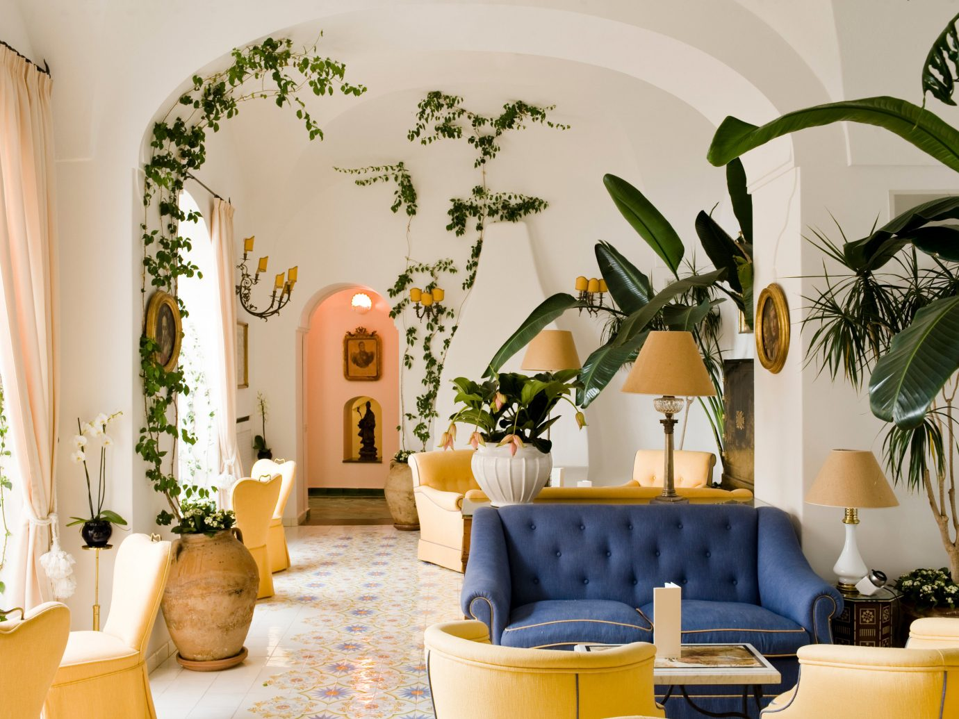 Lobby at Le Sirenuse Positano, Italy