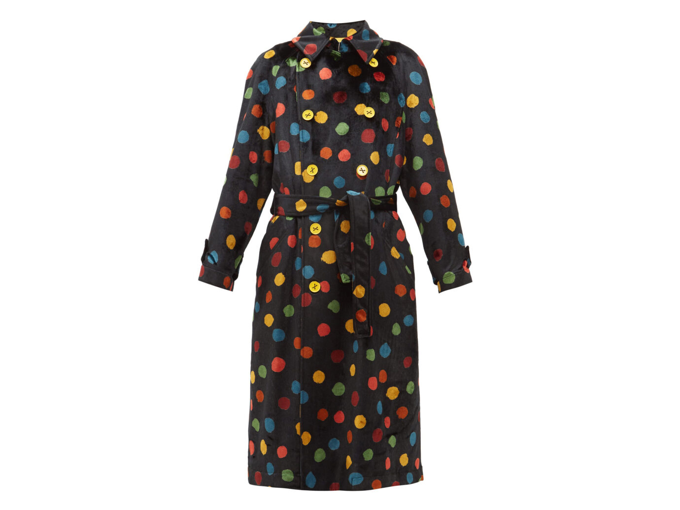 M Missoni Polka-Dot Trench Coat