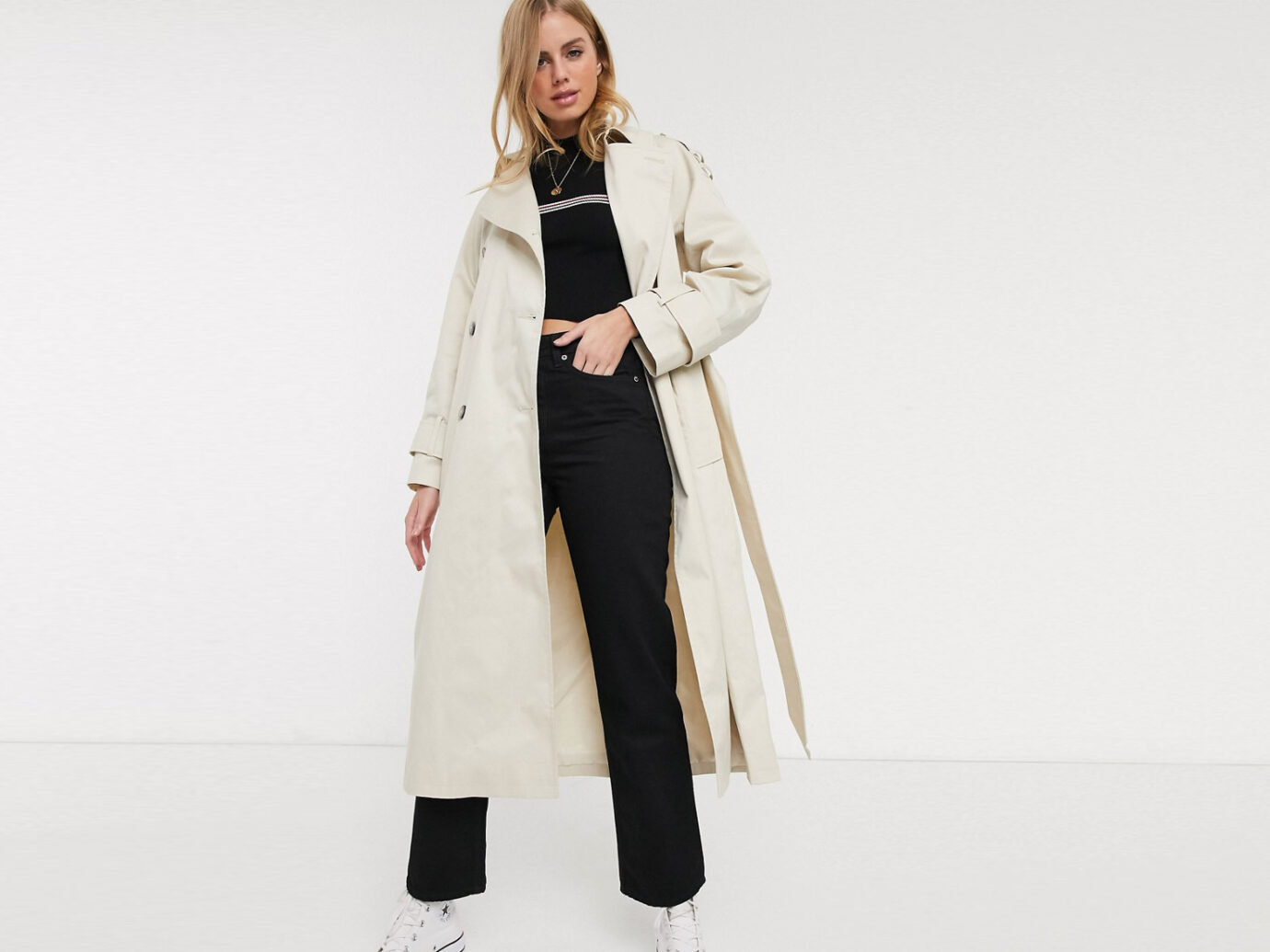 ASOS Design Longline Trench Coat
