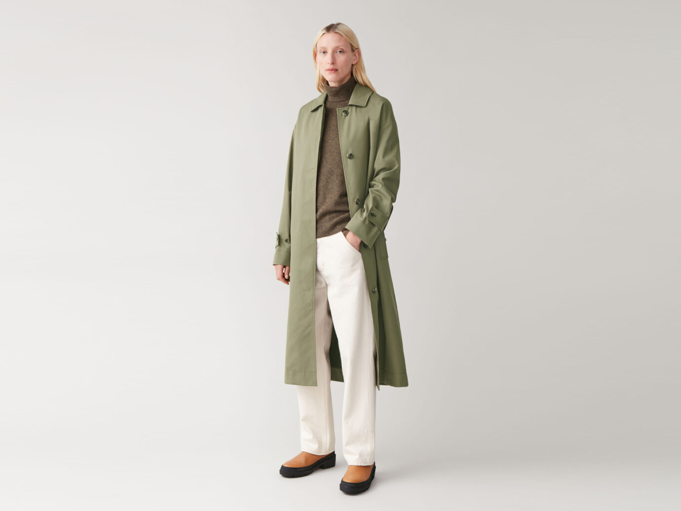 COS Organic Cotton Trench Coat