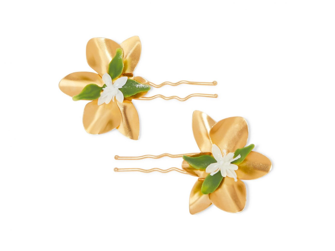 Mercedes Salazar Gold-tone and resin hair pins