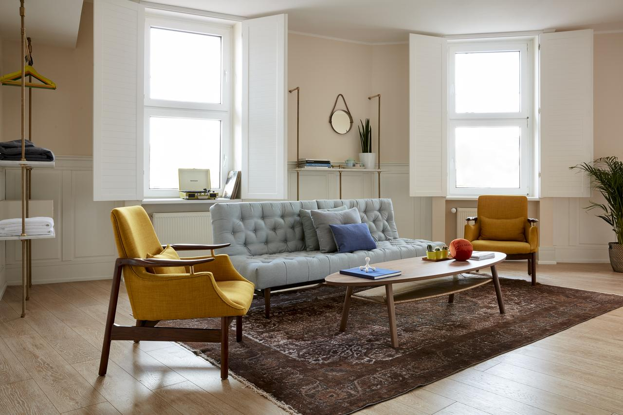 Living room at Max Brown Hotel Ku'damm, Berlin.