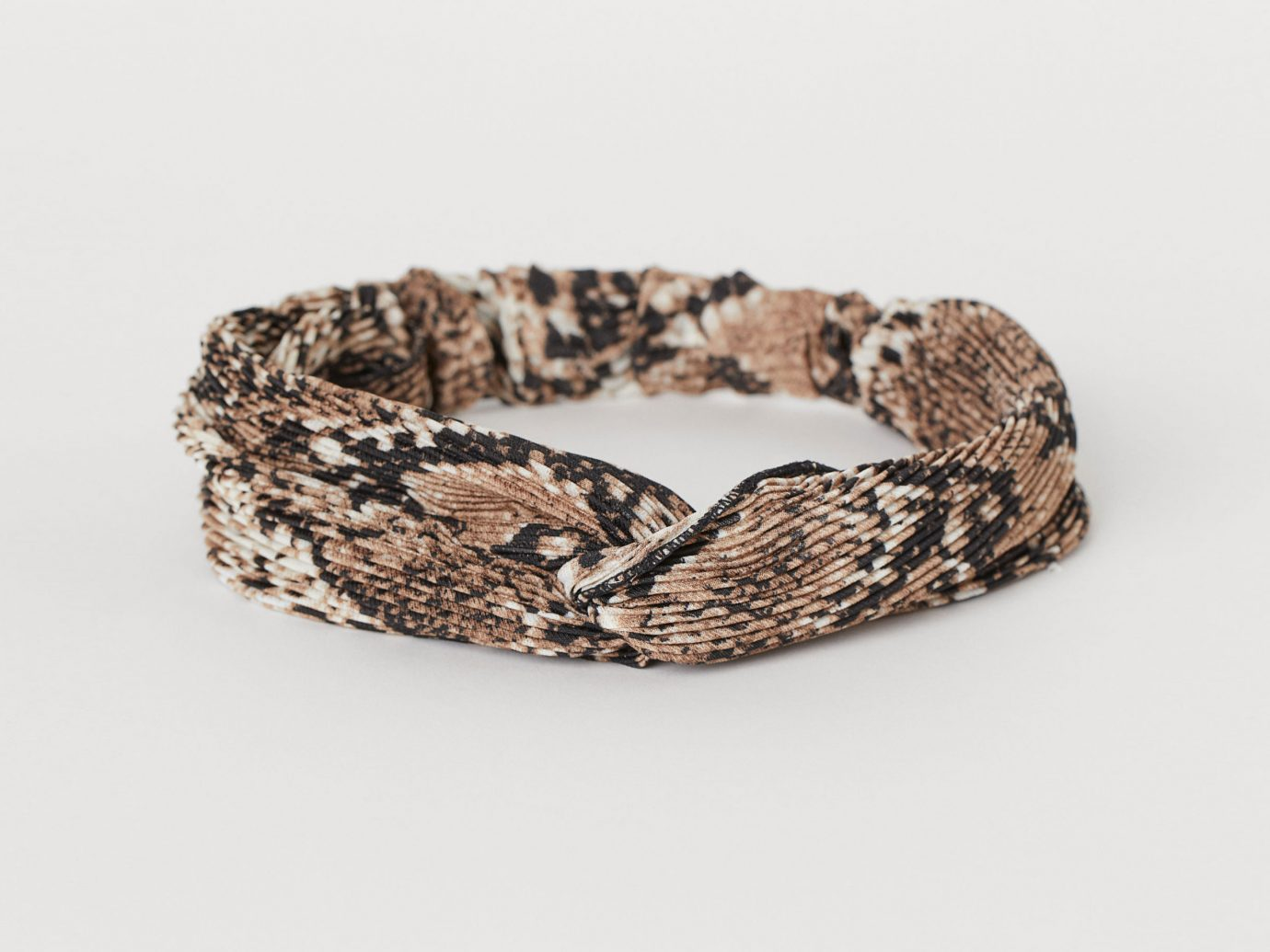 headband with Knot Detail in snake print