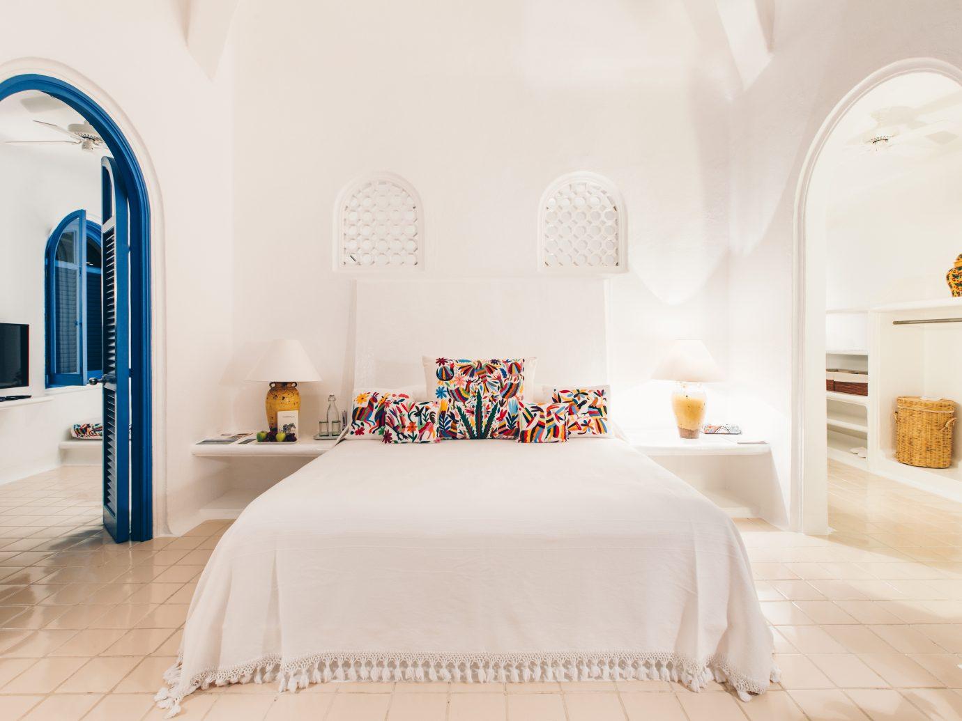 Bedroom at Cuixmala in Holbox, Mexico.