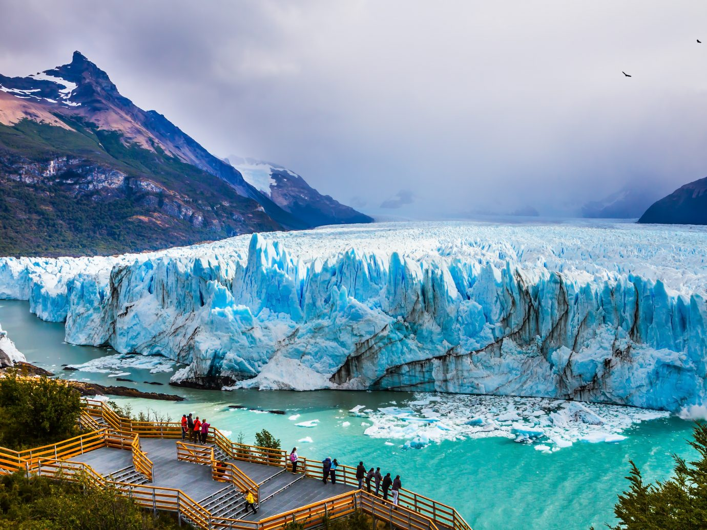 Grandiose glacier Perito Moreno in the Argentine part of Patagonia.