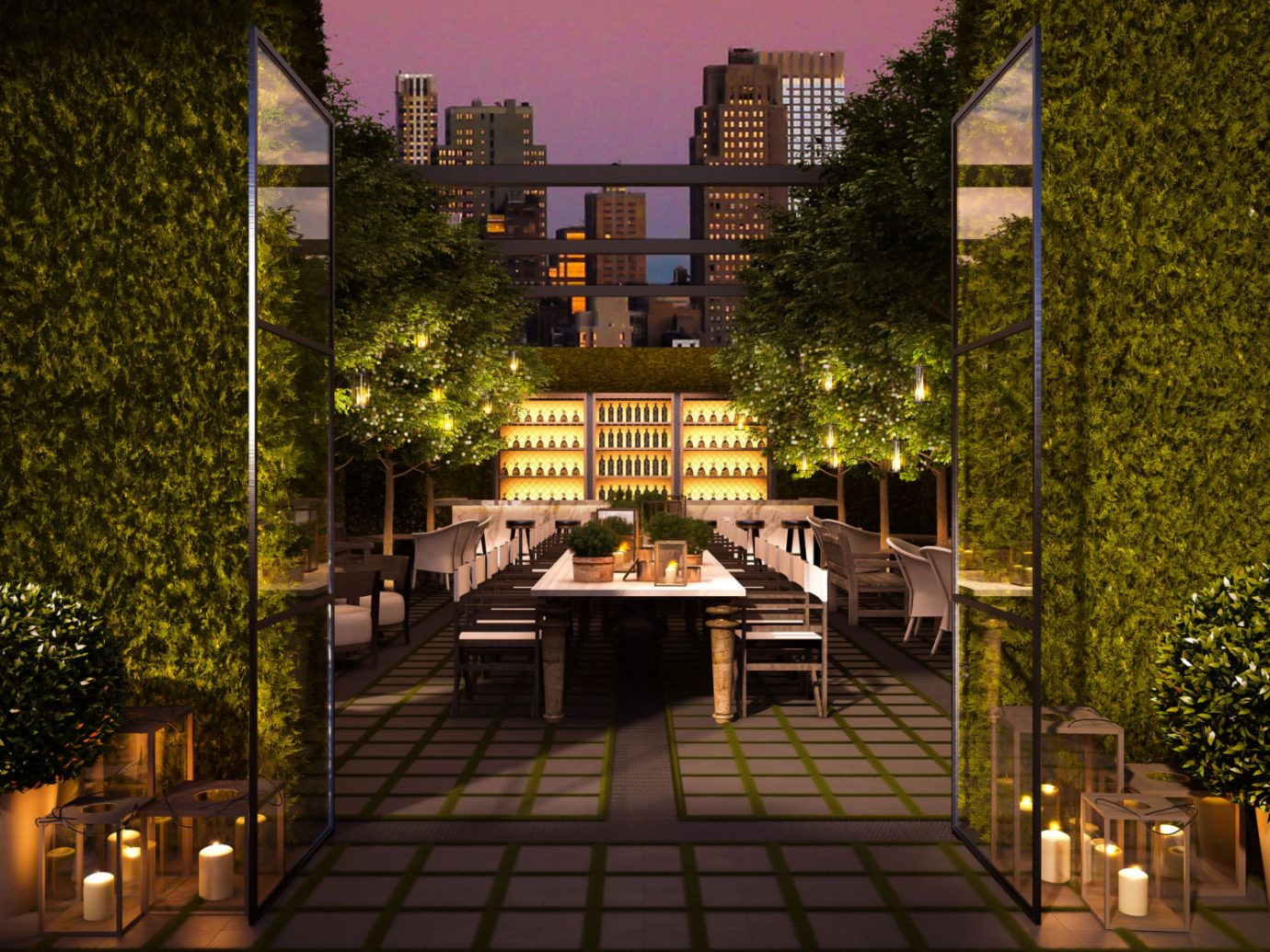 Patio at the Times Square Edition