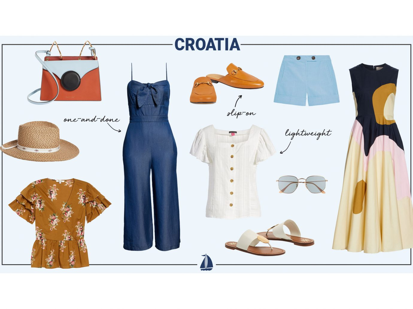 What to wear in Croatia collage - women