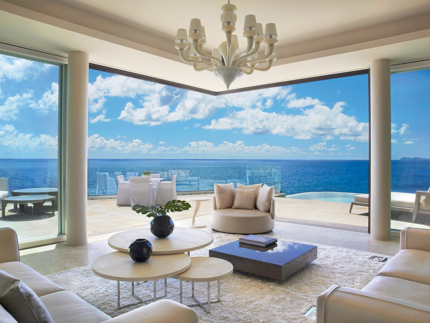 Living room at Oil Nut Bay