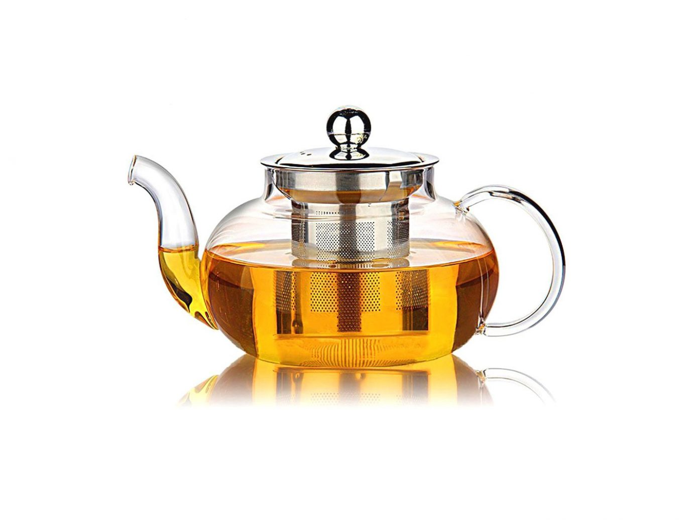 lass Teapot with Stainless Steel Infuser & Lid,
