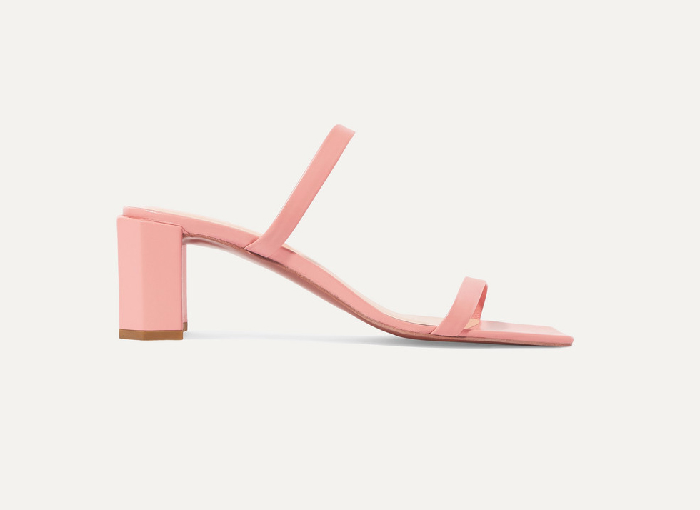 By Far Tanya Leather Mules sale