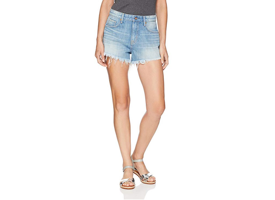 Denim Bloom High Waist Denim Shorts for Women with Elastic Waist