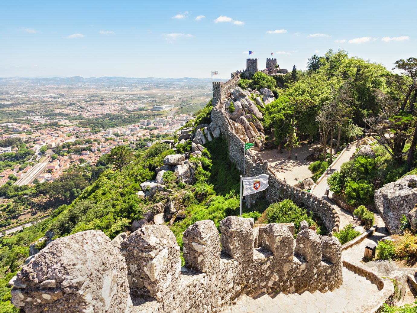 The Castle of the Moors is a hilltop medieval castle in Sintra, Portugal
