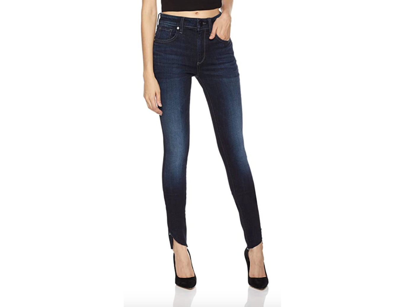 HALE Women's Rogue Stunner Mid Rise Skinny Jean with Step Hem