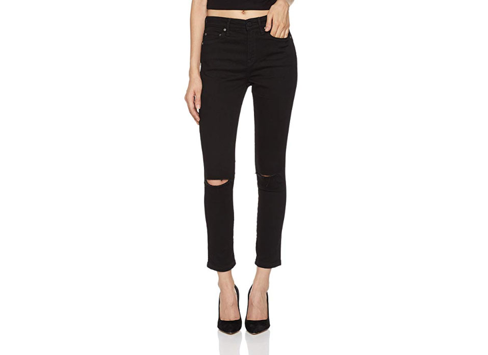 HALE Women's Joyce Sculpted High Rise Skinny Crop Jean
