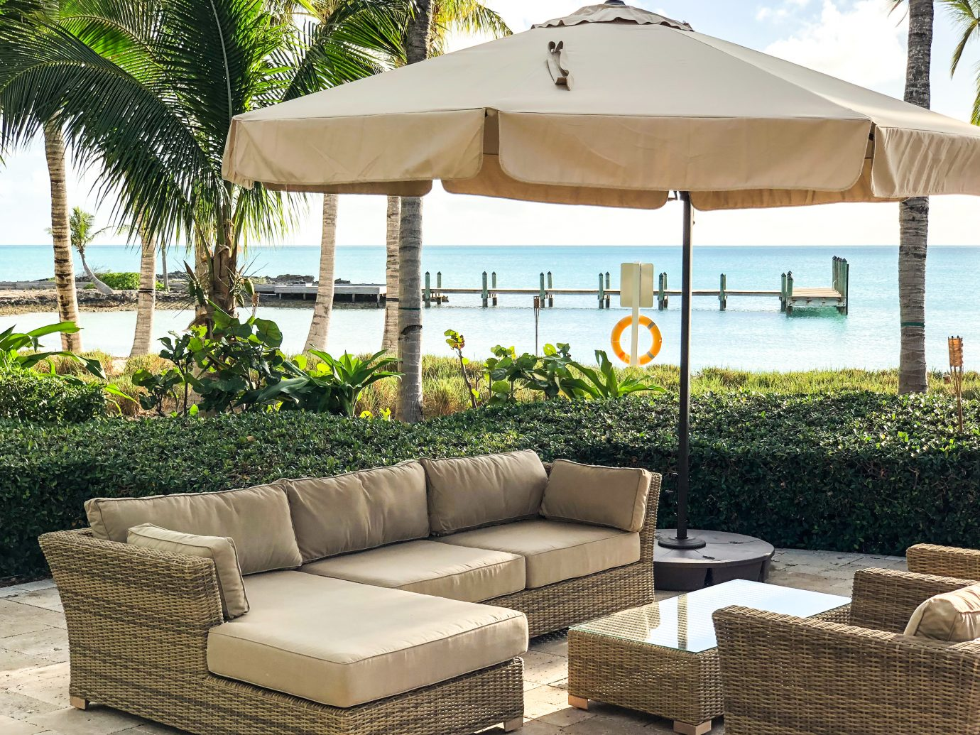 Outdoor lounge at Royal Island