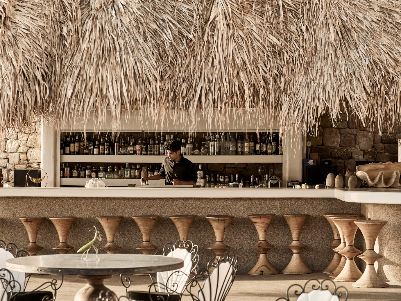 bar at Myconian Villa Collection