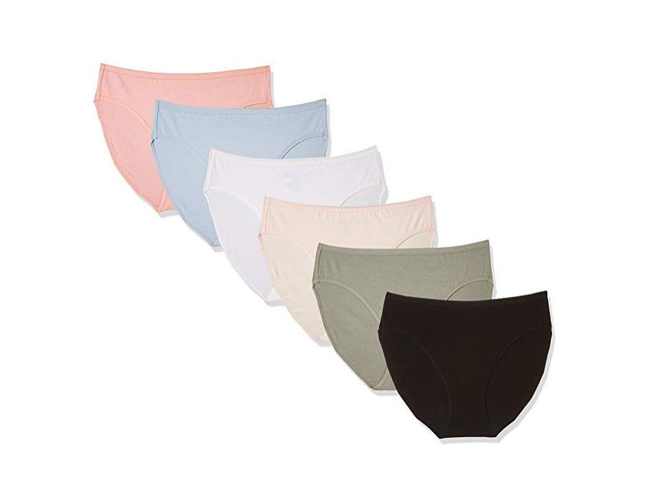 Madeline Kelly Women's 6 Pack Cotton High Cut Panty