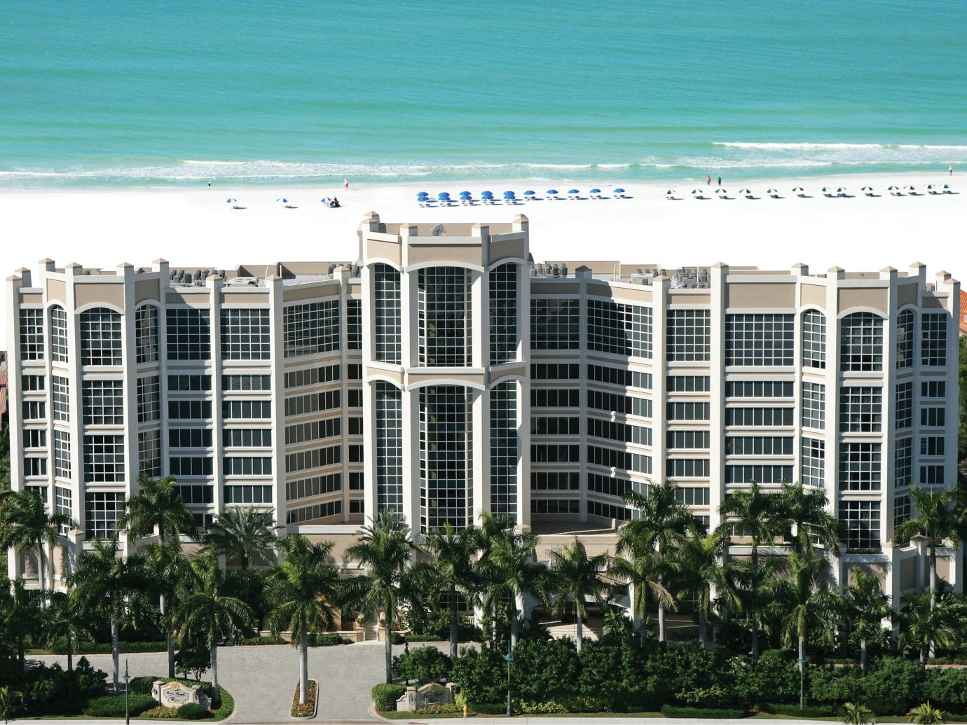 Aerial view of Marco Beach Ocean Resort, Marco Island, FL