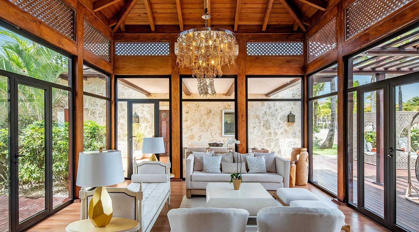 Sanctuary Cap Cana Royalty Villa Living Area