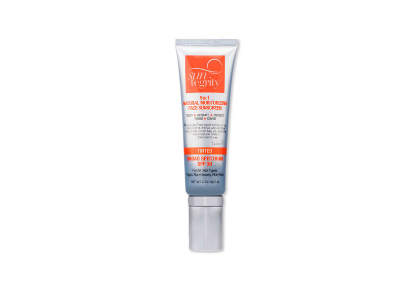 Suntegrity Skincare 5 in 1 Natural Moisturizing Face Sunscreen SPF 30