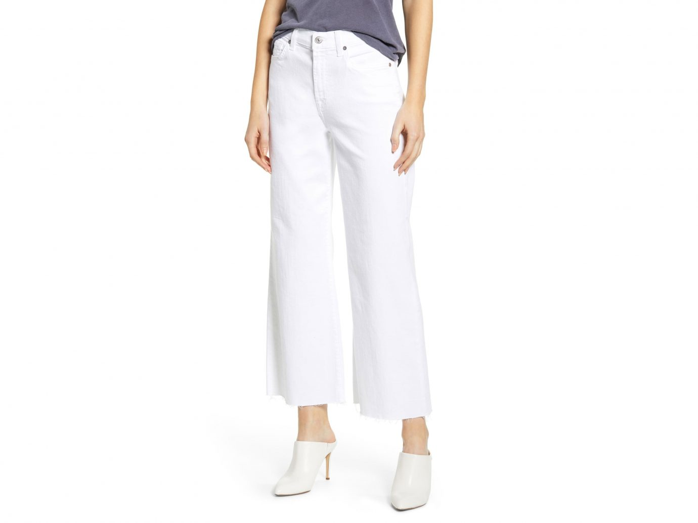 7 For All Mankind Alexa High Waist Crop Wide Leg Jeans