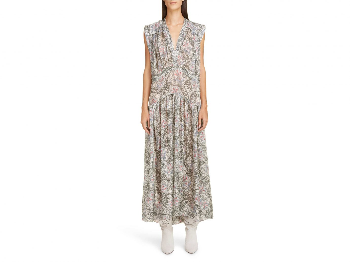 Isabel Marant Paisley Silk Maxi Dress