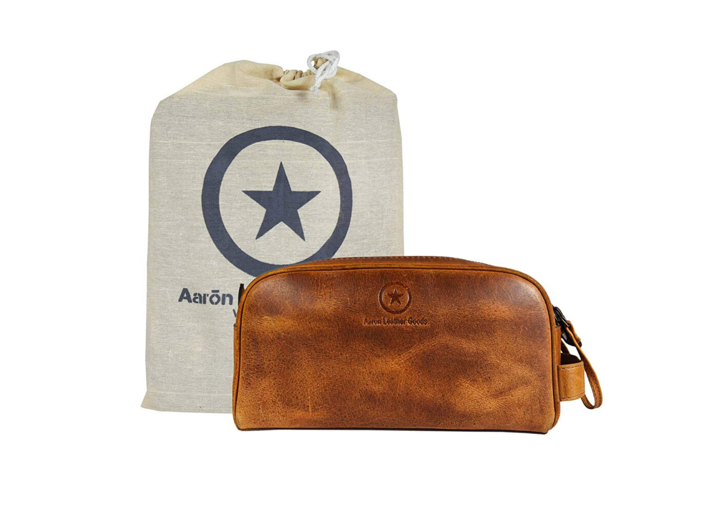 Aaron Leather Goods Toiletry Travel Pouch