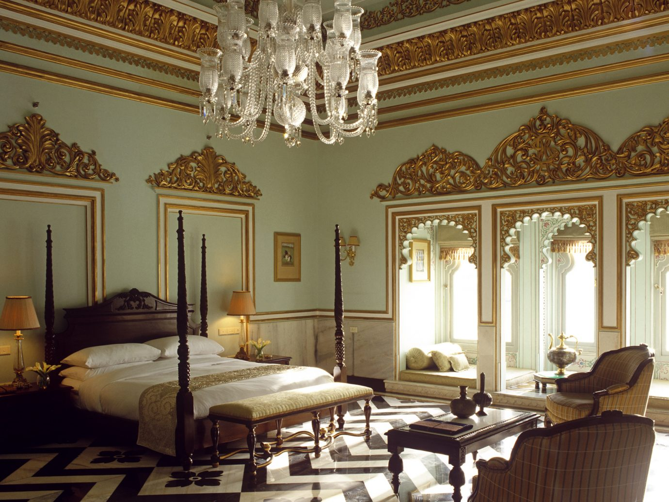 Bedroom at Taj Lake Palace, Udaipur